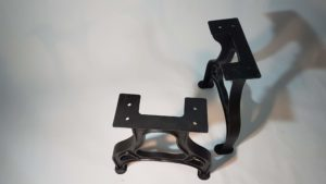 Tischgestell Eisenguss Industrie Design Abbildung 2